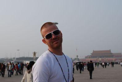 Martin at Tianamen Square