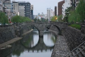 The spectacles bridge in Nagasaki.