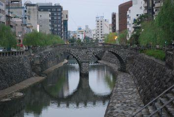 The spectacles bridge in Nagasaki.