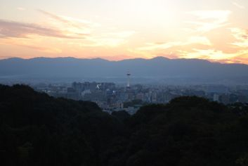 A view of Kyoto from the Kiyomizudera temple.
