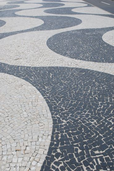 The characteristic pattern of the beach walk on Copacabana