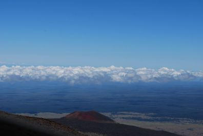 Clouds on our way up Mauna Kea, which is Hawaii's highest peak