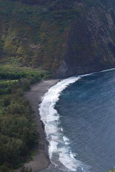 Waipi'o black sand beach