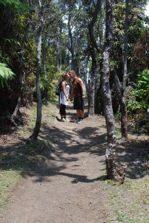 Gry and Stefan on the Kilauea Iki trail