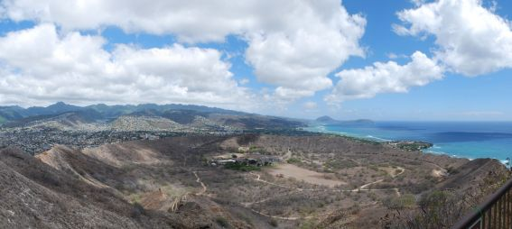 A view of the crater at Diamond Head
