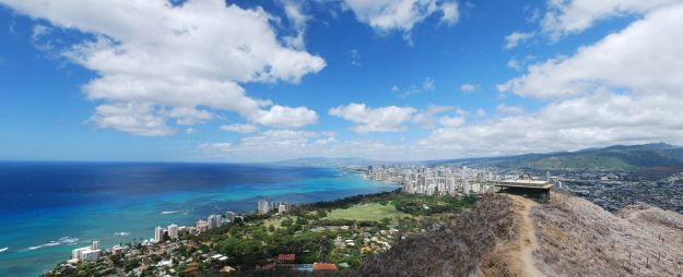 A view of Waikiki and Honolulu from Diamond Head