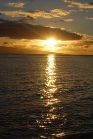 Sunset over the island of Molokai