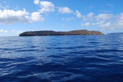 Molokini, a sunken volcano crater