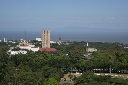 View of Managua center with the old cathedral in the middle