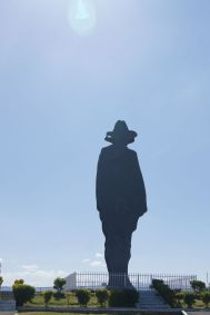 The national hero Augusto C. Sandino's famous silhouette on Loma de Tiscapa