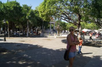 Malene at Parque Central in Granada