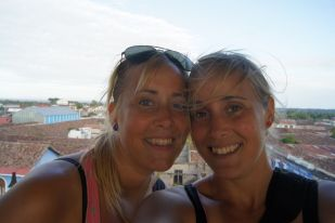 Me and Malene on top of Iglesia la Merced