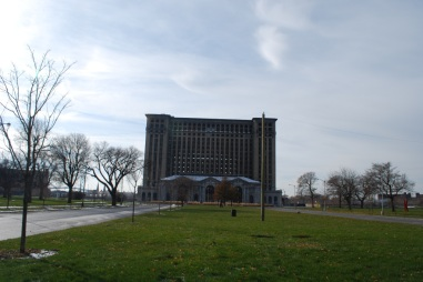 The abandoned Michigan Central Station