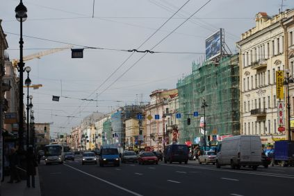 Nevsky Prospekt, the main street in St. Petersburg