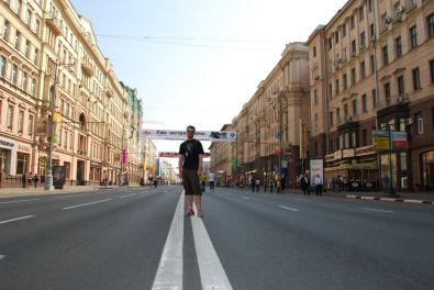 The main street in Moscow