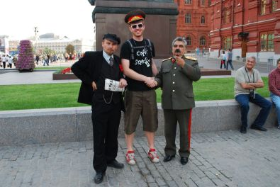 Martin with Lenin and Stalin...