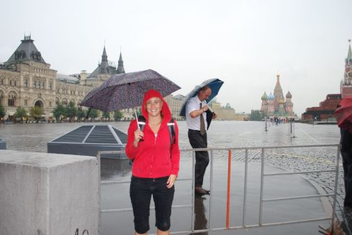 .. in pouring rain.