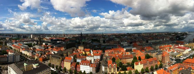 View of Copenhagen from Our Saviour's Church (Vor Frelsers Kirke), summer 2012