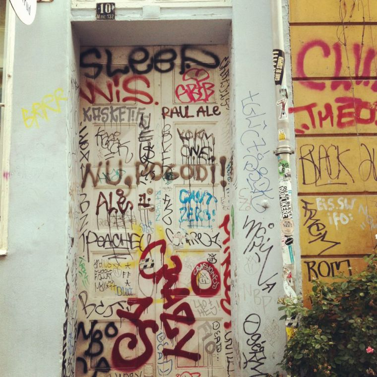 Door in the city, summer 2012